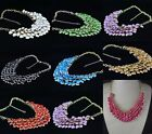 NEW Lots Fashion Jewelry Gold Plated Resin Gem Round Bib Statement Necklace