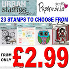 PAPERMANIA URBAN STAMPS GORJUSS CHRONOLOGY VINTAGE NOTES CLING DOCRAFTS CRAFT