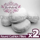 "Pack of 2 Round Hollowfibre Cushion Pads / Fillers / Inserts 16"", 18"", 20"", 22"""