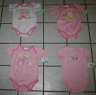 New Girls Pink MY FIRST EASTER Short Sleeve Creeper ~Various Designs~ Inf Sizes