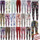 KIDS GIRLS NEW SEASON COMIC BOOK GRAFITTI FLORAL FASHION LEGGING SIZE 2-13YEARS