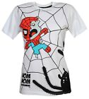 Cosmic Spider Trap Zombie Spiderman Comic Cartoon White Short Sleeved Tshirt