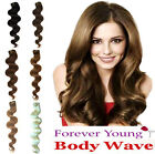 Clip in HUMAN HAIR EXTENSION Body Wave Style All Colours All Lengths
