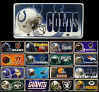 CHOOSE TEAM 1 License Plate NFL Tag Sign Metal For Auto Car Truck Wall Decor