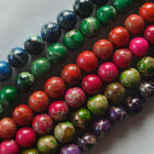 C22 Beautiful 1 Strand Sea Sediment Jasper Round Ball Loose Beads 15.5 inch