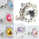 New Lot 48 PCS Gem Napkin Rings TableWare Decorations Wedding Diamond Ring