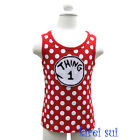 Girls Thing 1 White Polka Dots Party Minnie Mouse Tank Top 3M-10Y