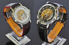New SOKI Date Automatic Analog Mens Mechanical Wrist Leather Band Watches S041D