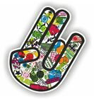Shocker Hand Auto Aufkleber JDM Tuning OEM DUB illest Stickerbomb Bombing dapper