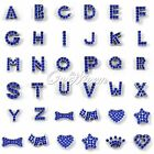 Blue Pet Dog Cat Personalized Rhinestone Pet Name Letter or Decor Exclude Collar