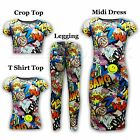 KIDS GIRLS NEW SEASON COMIC BOOK LEGGING VEST MIDI DRESS T SHIRT TOP 2-13 YEARS