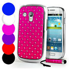 Diamante Bling Chrome Case & Screen Protector For Samsung Galaxy S3 Mini i8190