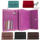 Genuine Leather Tri-fold Purse In 6 Colours  Black, Red, Brown, Pink, Cerise