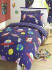 Blast-off Boy's Duvet Covers, Curtains -Outer Space/ Space Ship / Rocket NEW