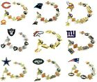 CHOOSE TEAM Charm Bracelet New Official NFL Fits 7 1/4-7 1/2 inch Jewelry Ladies