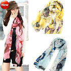 2013 Fashion Women Begonia Flower scarves ink Style ChiffonNeck Scarf Shawls Hot