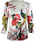 Breeke & Company - Peacock on a Branch, Hand Silk-Screened Woman's Artistic Top