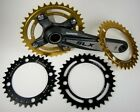 "VeloSolo CNC Singlespeed MTB Chainring 1/8"" 3/32"" 32t 34t 36t Black Silver Gold"