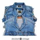 VINTAGE LEVIS LEE DENIM JACKET SLEEVELESS GILET VEST WAISTCOAT XS S M L XL