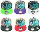 ADULTS MENS LADIES NY STATE SPIRAL SNAPBACK RETRO HIP HOP PEAK BASEBALL CAP HAT