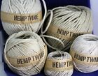 100% HEMP TWINE  Natural  0.5MM -1MM- 2MM             Crafts- Beading -scrapbook
