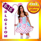 J96 Adult Little Bo Peep Shepherd Fairy Tale Fancy Dress Halloween Party Costume