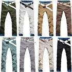 Kahki new Modern Style Men Slim Fitted Sexy Casual Pants Multicolor Trousers hot