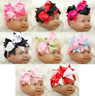 Halloween Xmas Baby Girls Bow Hair Clip Pink Red Black White Green Blue Headband