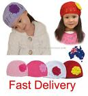 Kids Girl Cute Crochet Handmade Knit Skull Lace Beanie Cloche Hat Flower Rose