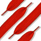 Red Shoelaces in Flat, Fat, Round Style by Shoe String King (choose your lace)