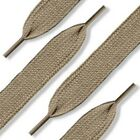 Khaki Shoelaces Flat, Fat, Round Style by Shoe String King (choose your lace)