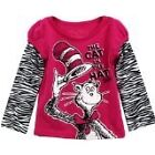 "NWT Dr. Seuss Girl's ""The Cat In The Hat"" Long Sleeve Shirt- Sizes 2T-4T"