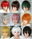 New Fashion Short Wig Cosplay Party Straight Wigs 9 colors