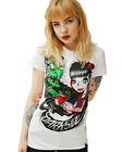 Darkside Clothing Hag Apple Snow White Witch Cartoon White Short Sleeved Tshirt