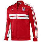 adidas Bayern Munchen 2013 - 2014 SOCCER Track Jacket Red / White Brand New