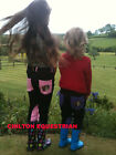 GALLOP CHILDRENS PULL ON JODHPURS - BLACK/ PINK OR BLACK / PURPLE SIZES 20 - 26