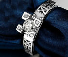 18K White Gold GP Eiffel Tower Austrian Crystals Fashion Jewelry  Ring BR762