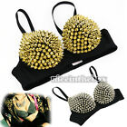 N98B New Hot Sexy Women Metallic Punk Spike Studs Rivet Underwear Bra Sleeping