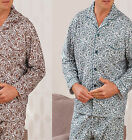 Mens Brushed Cotton pyjamas pjs pajamas winter warm paisely Winceyette  Champion