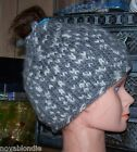 Hand Knit  Beanie Hat Ski Cap Cloche OOAK  New Choice Winter Warm