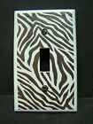 ZEBRA STRIPES PRINT DARK BROWN  IMAGE 1 LIGHT SWITCH COVERS PLATE AND OUTLETS