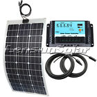 20W 30W 50W 60W 75W 100W 12V Flexible solar panel kit,10A 12V/24 Regulator,Cable