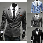Mens Casual Dress Slim Fit Stylish two button Fashion Suit Blazer Jackets  Coats