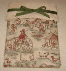 ABC * TOPSY TURVY * TOILE BABY BLANKET - Cameo, Sage, Blue
