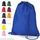 School Gym Bag PE Kit Book Child Kids Backpack Swimming Gymsac Sports Strong Sac