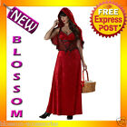 C767 Deluxe Miss Red Little Riding Hood Fairytale Fancy Dress Halloween Costume