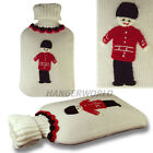 QUALITY 2L HOT WATER BOTTLE KIDS CHILDREN'S ADULT KNITTED COVER BS STANDARDS