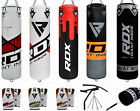 RDX 5FT Filled Punch Bag + Chin Pull Up Bar + Boxing Gloves +Chains Wall Bracket