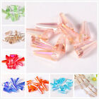 20/100PCS colorful Crystal Glass Faceted Charm Pendants loose spacer Bead 8*15mm