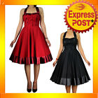RK71 Rockabilly 50s 60s Pin Up Cocktail Party Evening Retro Swing Dance Dress